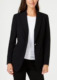 Anne Klein Bi-Stretch One-Button Blazer, Created for Macy's
