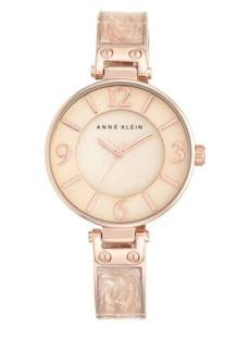 Anne Klein Blush Marbled Rose Goldtone Bracelet Watch- AK2210BMRG