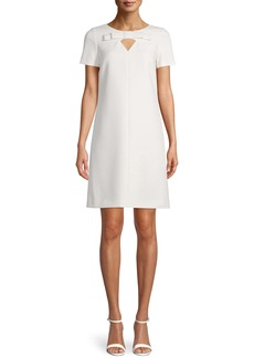 Anne Klein Bow & Keyhole Shift Dress