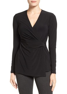 Anne Klein Buckle Wrap Top