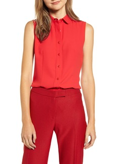 Anne Klein Button Front Sleeveless Blouse