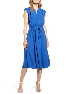 Anne Klein Cap Sleeve Midi Dress