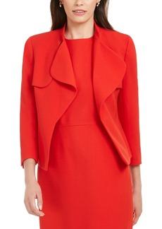 Anne Klein Cascade-Collar Open-Front Blazer