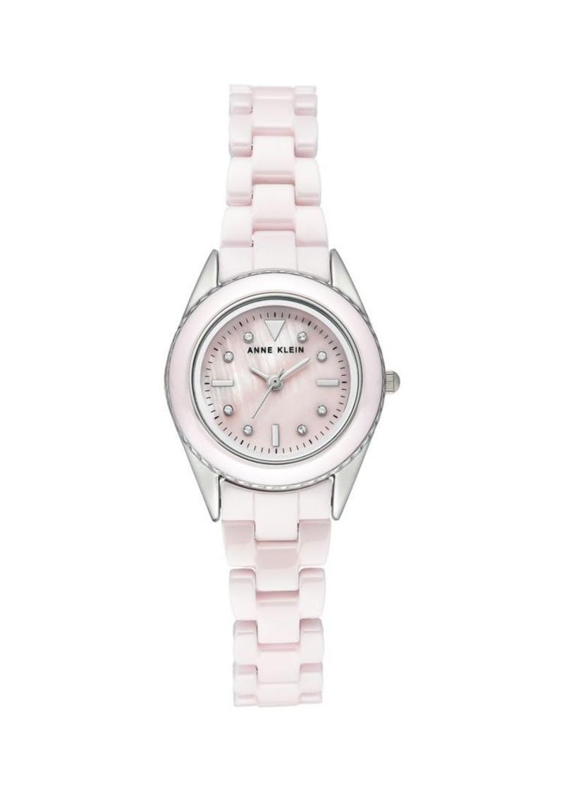 Anne Klein Ceramic & Swarovski Crystal Bracelet Watch