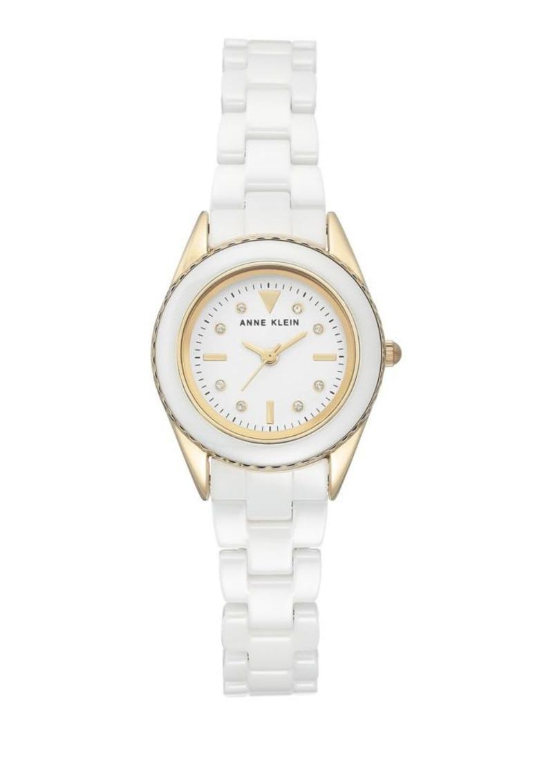 Anne Klein Ceramic Round Bracelet Watch