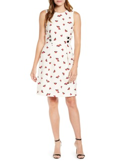 Anne Klein Chatterly Rose Fit & Flare Dress