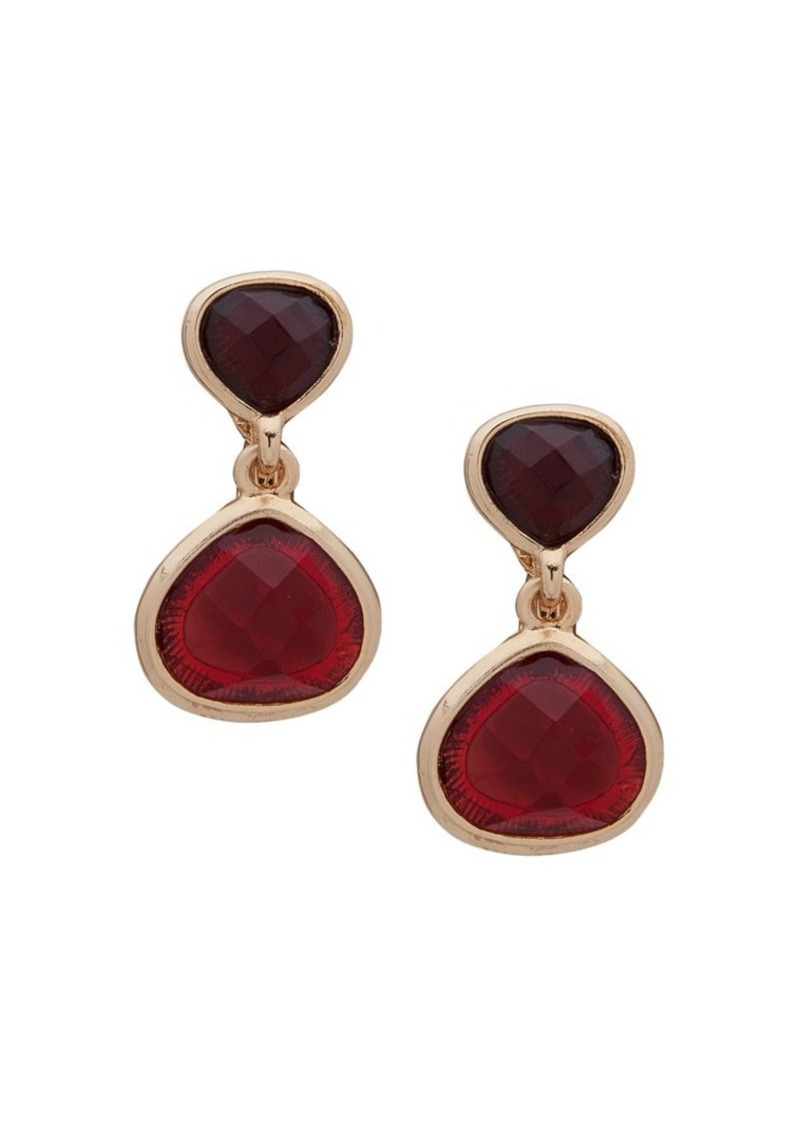 Anne Klein Clip-On Double Drop Earrings