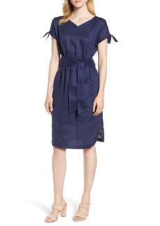 Anne Klein Cold Shoulder Linen Dress