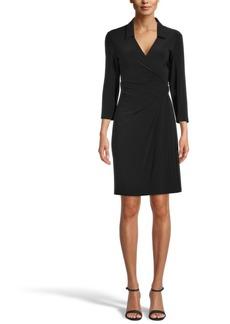 Anne Klein Collared Signature Wrap Dress
