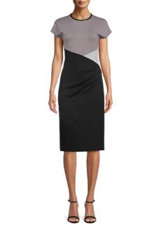 Anne Klein Colorblock Ponte Dress