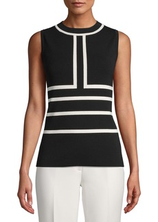 Anne Klein Colorblock Sleeveless Sweater