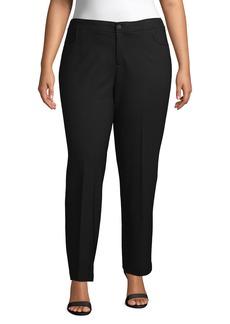 Anne Klein Compression Flare Leg Ponte Pants (Plus Size)
