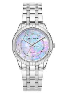 Anne Klein Considered Solar Power Bracelet Watch, 34mm