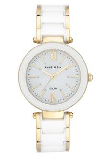 Anne Klein Considered Solar Power Ceramic Bracelet Watch, 33mm