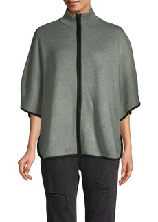 Anne Klein Contrast Cape-Sleeve Top