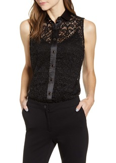 Anne Klein Corded Lace Top
