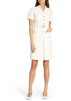 Anne Klein Corduroy Belted Shirtdress