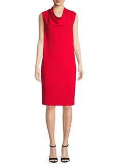 Anne Klein Cowlneck Shift Dress