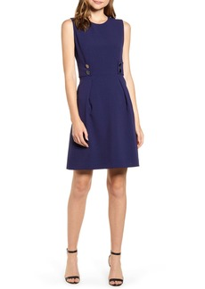 Anne Klein Crepe Fit & Flare Dress