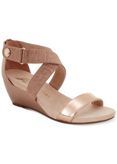 Anne Klein Crisscross Wedge Sandals