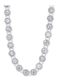 "Anne Klein Crystal & Pave Collar Necklace, 16"" + 3"" extender"
