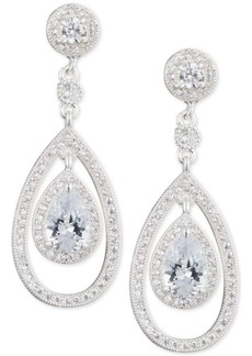 Anne Klein Crystal and Pave Orbital Drop Earrings