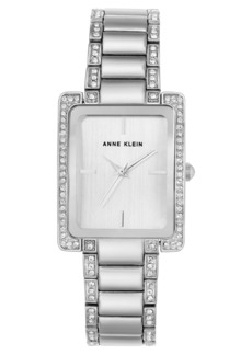 Anne Klein Crystal Bracelet Watch, 28mm x 35mm
