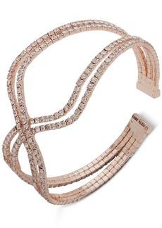 Anne Klein Crystal Crisscross Multi-Row Cuff Bracelet
