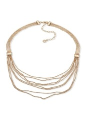 Anne Klein Crystal Multi-Strand Chain Necklace