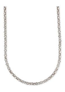 Anne Klein Crystal Pave Tubular Strand Necklace