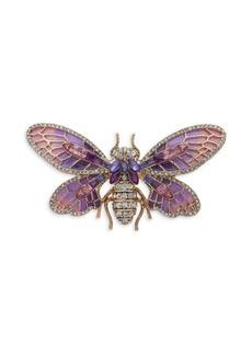 Anne Klein Cubic Zirconia Bug Brooch in Gift Box