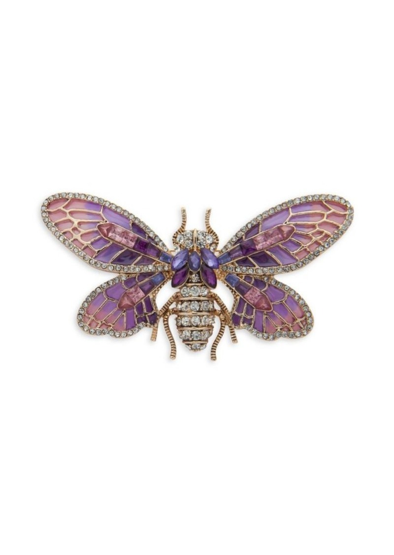 Anne Klein Cubic Zirconia Bug Brooch in Gift Box