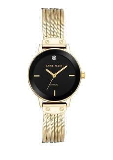 Anne Klein Diamond Chain Bracelet Watch