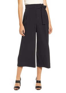 Anne Klein Dot Belted Cropped Trousers