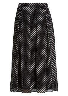 Anne Klein Dot Box Pleat Skirt