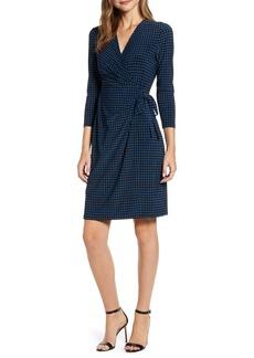Anne Klein Dot Faux Wrap Dress