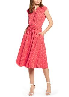 Anne Klein Dot Print A-Line Dress