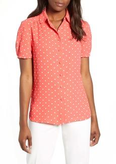 Anne Klein Dot Print Button-Up Blouse