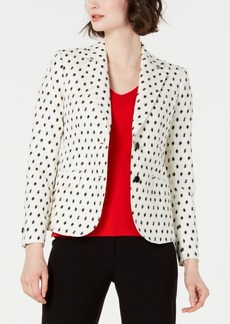 Anne Klein Dot-Textured Double-Button Blazer