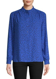 Anne Klein Dotted High-Low Blouse