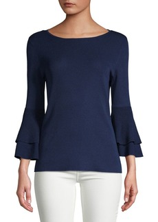 Anne Klein Double Flare-Sleeve Blouse