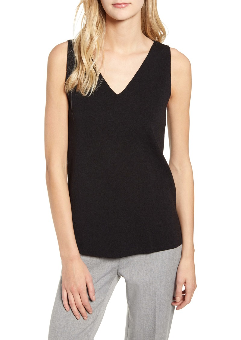 Anne Klein Double V-Neck Sweater Tank