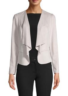 Anne Klein Drape Front Faux Suede Jacket