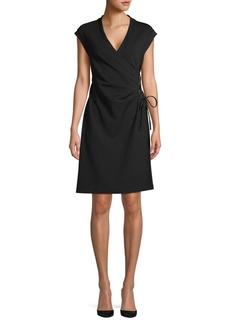 Anne Klein Draped Tie-Waist Dress