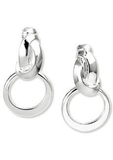 """Anne Klein Earrings, 1"""" Twisted Hoop E-z Comfort Clip On Earrings"""