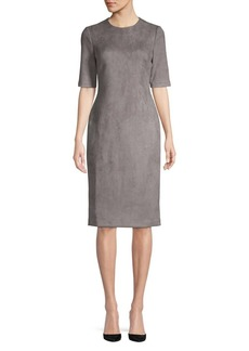 Anne Klein Elbow-Sleeve Sheath Dress