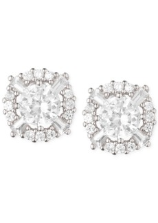 Anne Klein Elevated Crystal Round Stud Earrings