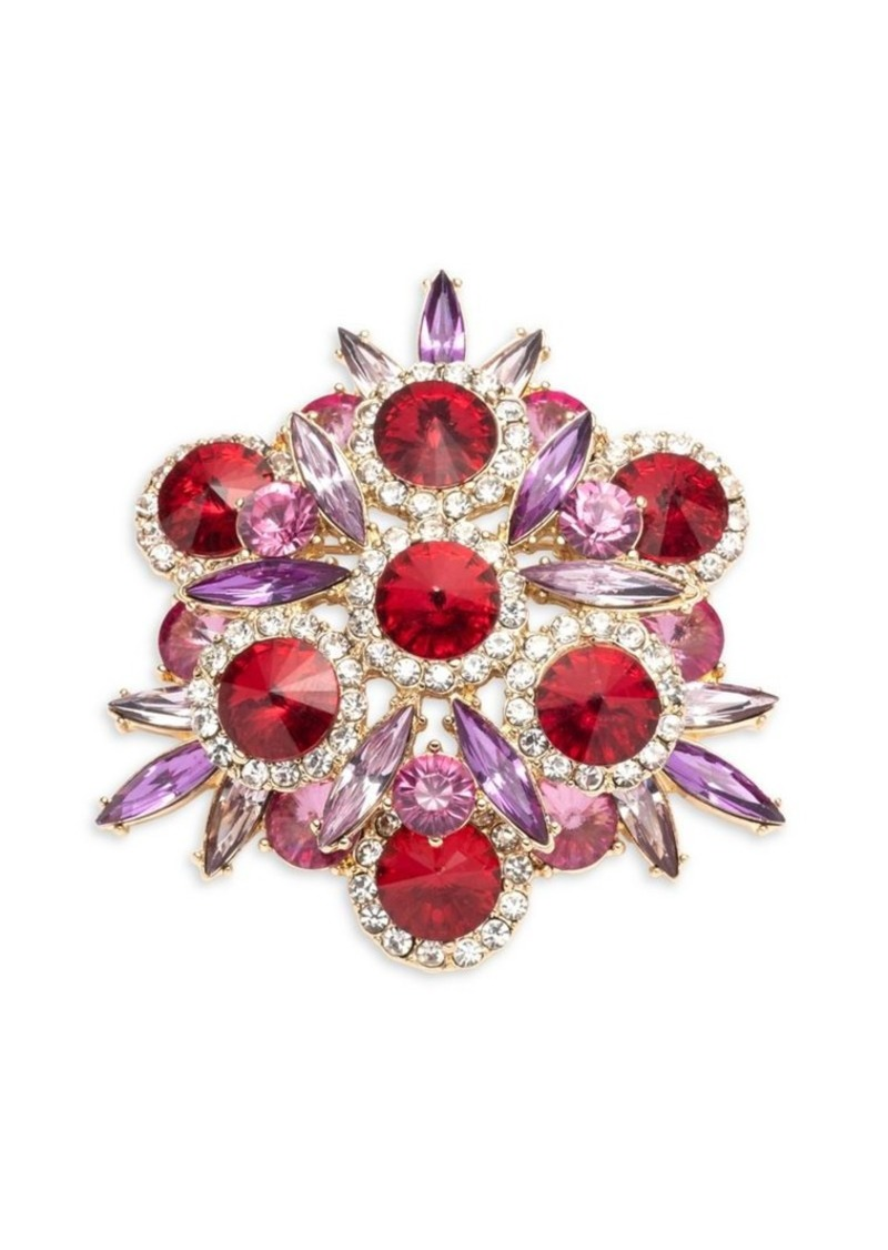 Anne Klein Embellished Cluster Brooch in Gift Box