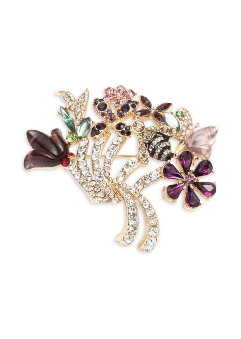 Anne Klein Embellished Floral Brooch in Gift Box