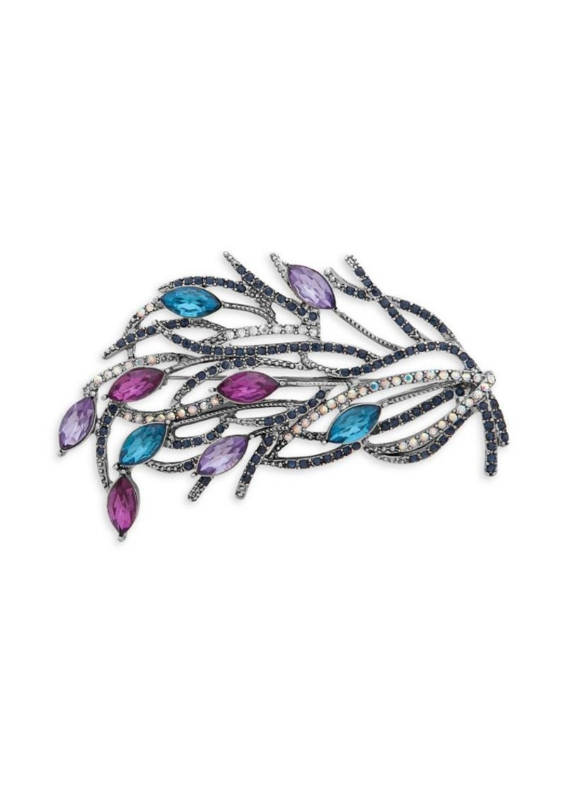 Anne Klein Embellished Leaf Brooch